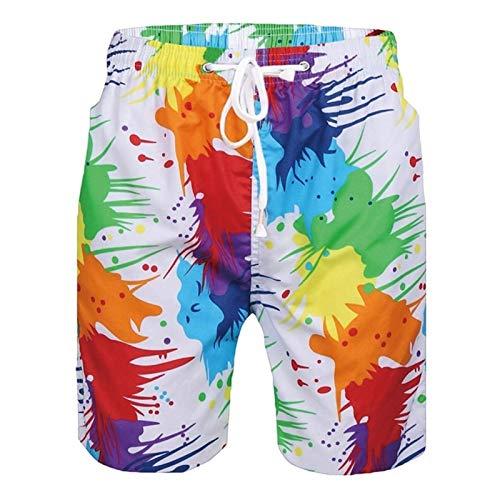 Pantalones Cortos De Playa para Hombres Troncos De Natación Tallas Grandes Piscina De Mar Pool Fool Swim Troncs (Color : D, Size : XL)