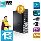 Dell Mini PC 790 Ultra USFF Core I3-2100 4 GB 240 GB SSD WiFi W7