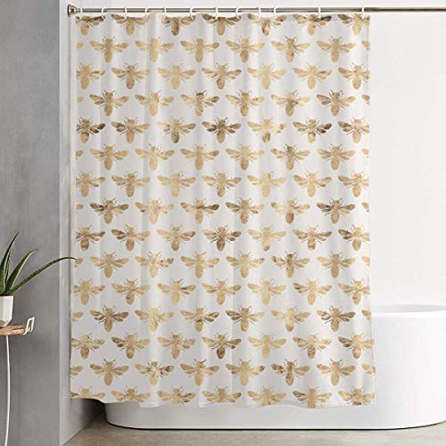 Duschvorhang Honey Bees 60 x 72 Inch Shower Curtain Polyester Waterproof Bath Curtain Bathroom Decoration