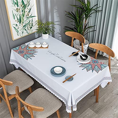 SUNFDD Mantel De PVC Impermeable, A Prueba De Aceite, Anti Escaldado, Mantel Largo, Mantel Cuadrado, Mesa De Comedor, Escritorio 120x170cm(WxH) H