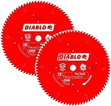 Freud D12100X 100 Tooth Diablo Ultra Fine Circular Saw Blade for Wood and Wood Composites, 12-Inch (2 PACK)