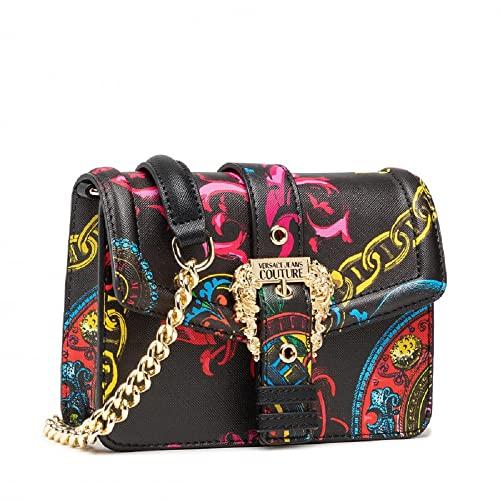 Versace Jeans Couture Borsa A Tracolla Versace Jeans Couture Nera Con Stampa Regalia Baroque Multicolour