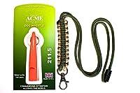 Dog & Field Acme 211.5Sifflet de dressage pour chien sifflet et lanière Combo 4couleurs cordon 6Designs