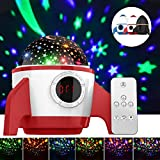 Baby Night Light Projector,Amouhom LED Night Lighting Projector,Ceiling Lamp with Remote Control&Timer Design&Rotating,Toy for Children,Birthday Christmas Gifts for Kids,(Rocket-Red)