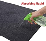 Sensko Under Sink Mat, Kitchen Cabinet Mat, Absorbent/Waterproof,Sink Drip Protector Tray ,Contains Liquids — Protects Cabinets,Washable (36' x 47.6')