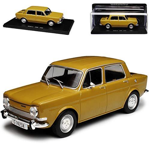 Unbekannt Simca 1000 Limousine Braun Grün 1961-1976 mit Sockel 1/24 Modellcarsonline Modell Auto Modellcarsonline Modell Auto