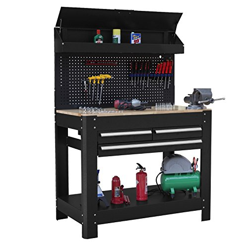 Dirty Pro Tools™ 45' Professional Heavy Duty Workbench with Ball Bearing...