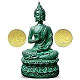 Antique Buddha Statue for Home Decor,7' Thai Shakyamuni Sitting Statue Resin with Bronze Finish, Great Decoration for Meditation Altar