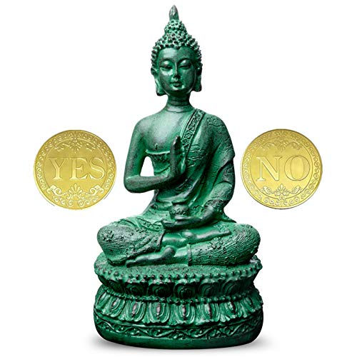 Antique Buddha Statue for Home Decor,7' Thai Shakyamuni Sitting Statue Resin with Bronze Finish, Great Decoration for Meditation Altar
