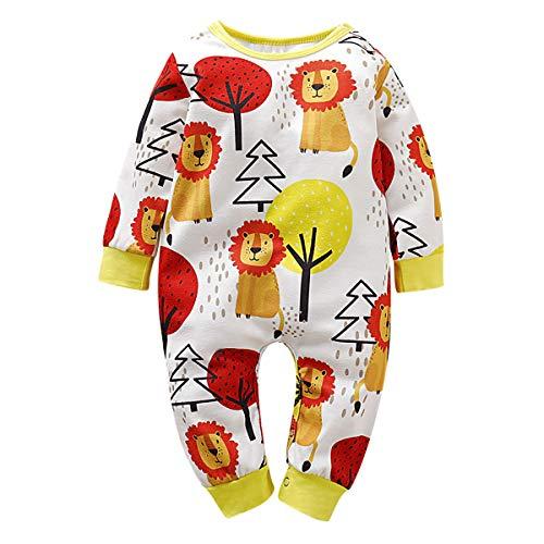 Borlai Baby Fashion Kleidung Cartoon-Baum Löwe Print Outfit Langarm Kleinkind Body Kleidung,12-18 Monate, gelb