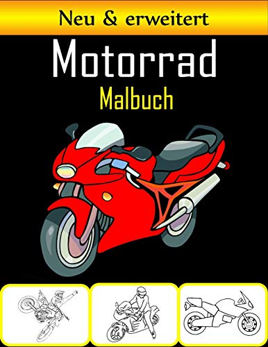 Motorrad Malbuch: 50 hochwertige Motorrad Malvorlagen für Kinder und Jugendliche