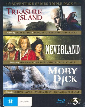 Adventure Series Triple Pack - 3-Disc Box Set ( Treasure Island / Neverland / Moby Dick ) [ Blu-Ray, Reg.A/B/C Import - Australia ]