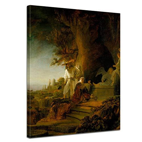 Leinwandbild Rembrandt Christus erscheint Maria Magdalena - 50x70cm hochkant - Wandbild Alte Meister...