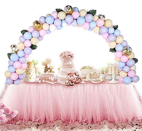 Thanksgiving Decoration Rose Gold Balloon with Banner, Backdrop + Balloon Arch Kis Adjustable Table