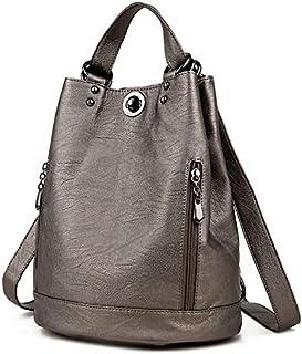 nobrand Mode Rucksack Frauen Rucksäcke Leder Weibliche Reise Umhängetasche Hochwertige Frauentasche Mode PU Leder Rucksäcke für Frauen Schultaschen Bronze