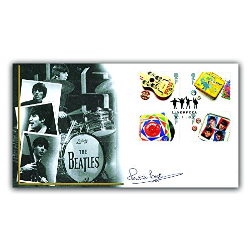 Buckingham Covers Beatles First Day Cover, with stamps from the miniature sheet, signed by Pete Best