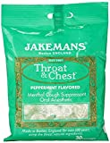 Jakemans Throat and Chest Lozenges, Peppermint, 100g