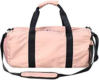 Travel Bag Neutral, Carry-on Duffel Bag, Large Capacity (20~35L) Nylon Gym Bag, Lightweight and Waterproof Foldable, Suitable for Short Trips,Pink