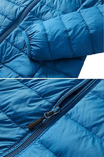 Women's Packable Puffer Down Jacket II Lightweight Full-Zip Water-Resistant Collar Short Coat with Travel Bag