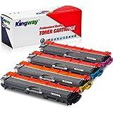 Kingway Cartucho de tóner Compatible para Brother TN221 TN225 TN-221 TN-225 para Uso con HL-3170CDW HL-3180 HL-3140CW 31750CDW MFC9130CW 9140CDN 9330CDW (Paquete de 4)