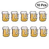 YeahiBaby Blinky Brosche LED Licht Bier Becher Form Abzeichen Bar Party Oktoberfest Deko 10 Stück
