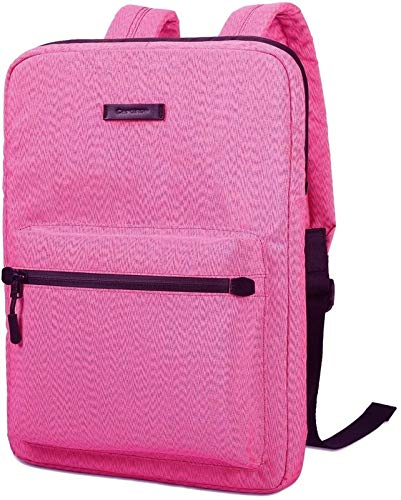 GZA Tablet Cases for MacBook Touchbar 15 Pro 13.3 14 15 Inch, Canvas Lightweight Laptop Bag,Fashion Laptop Backpacks, Chromebook Laptop Bag for MacBook Touchbar (Color : Pink, Size : 13.3-15.4 inch)