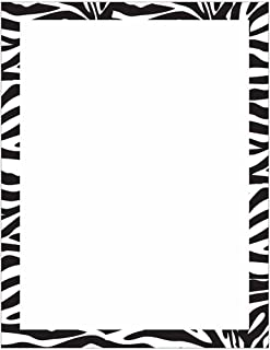 Modern Zebra Animal Print Stationery Letter Paper