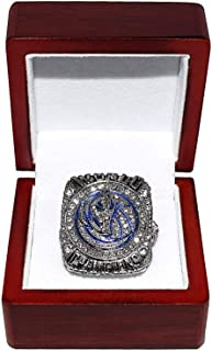 DALLAS MAVERICKS (Dirk Nowitzki) 2011 NBA FINAL WORLD CHAMPIONS (Victory Vs. Miami Heat) Rare Collectible Replica National Basketball Association Silver Championship Ring with Cherrywood Display Box