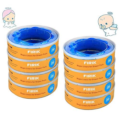 FIRIK Nachfüllkassetten für Litter Locker II Entsorgungseimer Stechenden Geruch Versperren Windeleimer Nachfüllpack Verbesserung Version, stechenden Geruch versperren - 8 STK
