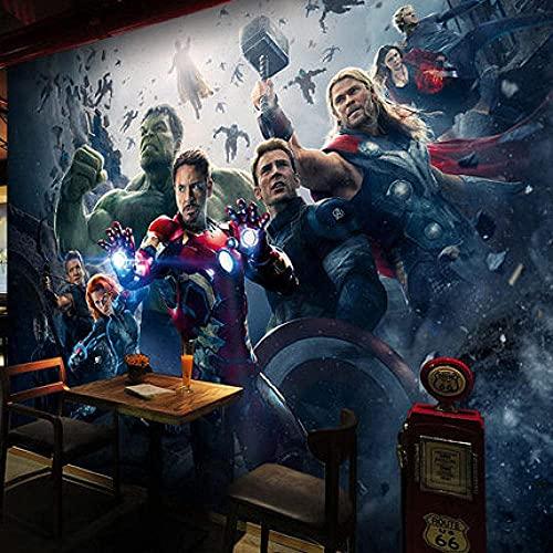 Living Equipment 3D Wallpaper Leinwand Kunstdruck Wandbild Poster Foto Tapeten Wandbilder Bild Design Modernes Wohnzimmer Schlafzimmer Home Decoration-Movie Avengers Iron Man (400x280CM)