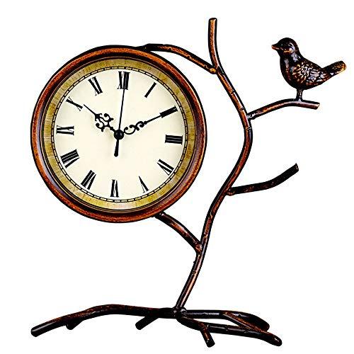 WANGXINQUAN Reloj de escritorio para sala de estar, con personalidad creativa para dormitorio, de hierro