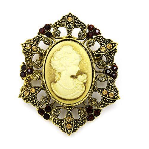 YXYSHX WEIMANJINGDIAN Marca Crystal Rhinestones Estilo Vintage Cameo Broches Abrigo Vestido Accesorios...