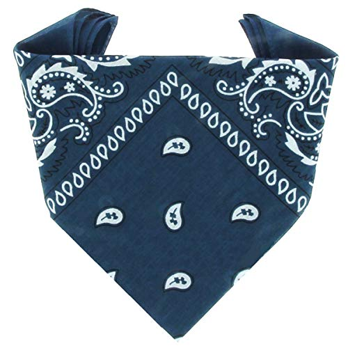 ...KARL LOVEN - Bandana 100% algodón - Paisley Pato azul - Pañuelo para el cuello, cabeza bufanda para hombre, mujer y niño muñeca Pulsera motociclista Deportiva