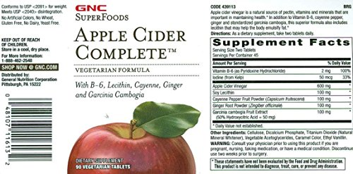 Gnc Earth Genius Apple Cider Complete 90 Vegetarian Caplets Buy Online In Belize Gnc Products In Belize See Prices Reviews And Free Delivery Over Bz 140