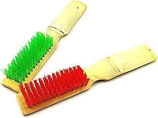Kitchen Brush   Shoe Brush   Bamboo Boots Cleaning Tool   Car Wheel Mud Cleaner   Toilet Floor Brush   Dust Dirt Sweeper Random Color 2 Pack