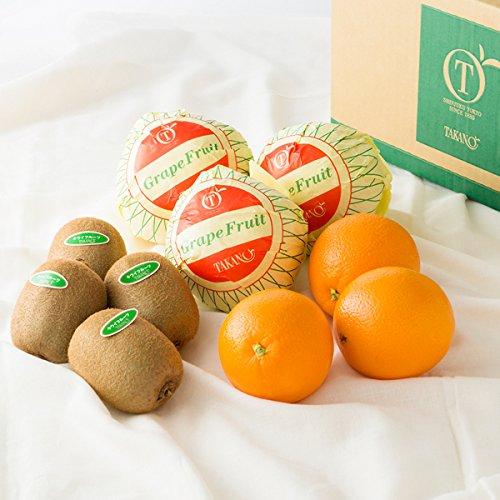 新宿高野 Day Fruit デイフルーツセットE #29100 [グレープフルーツ×3/オレンジ×3/キウイフルーツ×4] フルーツ 果物 詰め合わせ セット 父の日ギフト お中元