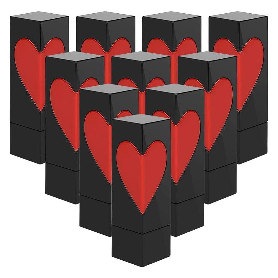 経験的パケット意気込みSemmeの空の口紅の管、愛の心の空のDIYの口紅の容器の自作の口紅型のリップ?クリームの管(テンオップバッグ)