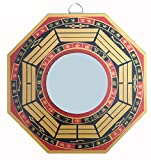 Feng shui / vastu bagua pa kua mirror deflect negativity and door protection Material - Wooden & Glass Mirror, Size : 7 X 7 Inches (18 X 18 CM) Feng Shui Convex bagua (pa kua) mirror is a mirror which is surrounded by an eight trigrams octagonal shap...