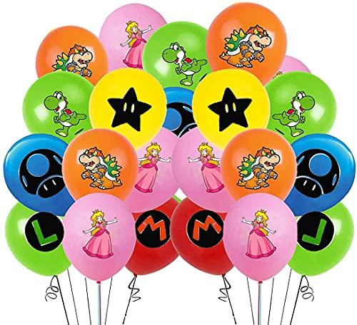 Globos de cumpleaños de Super Mario, con diseño de Super Mario, accesorio para fiesta de cumpleaños