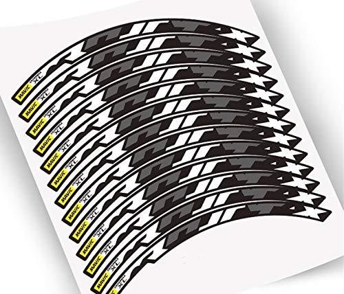 Etiquetas engomadas de la Rueda para MTB 26 27.5 29 Pulgadas Mountain Bike Wheelset Ciclo de reemplazo de calcomanías de Carrera Pegatinas para Moto (Color : 26 Inch White)