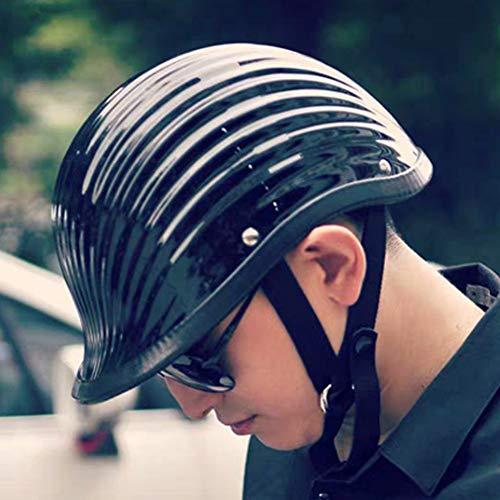 XIUJC Half Helmet Retro Open Face Motorcycle Scoop Helmet Motorbike Crash Half Helmet Jet Helmet Men and Women Bike Cruiser Chopper Electric Moped Biker Helmet ATV Helmet