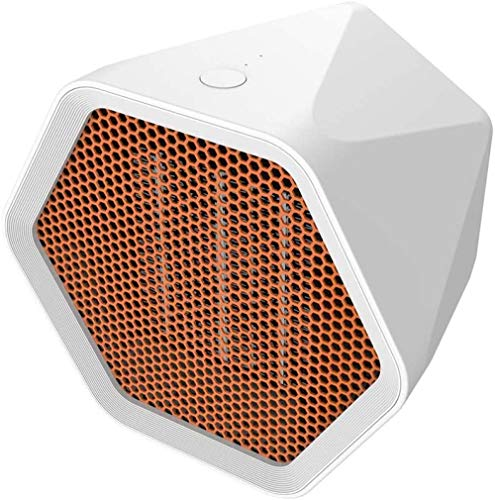 HQZ Space heater fan heater personal small space heater portable electric heater fan with PTC ceramic heating element suitable for office home desktop floor indoor use (white)-European plug