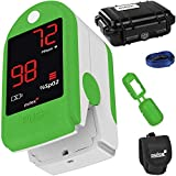 Pulsossimetro Pulox-PO-100 con display a LED saturimetro in colore verde