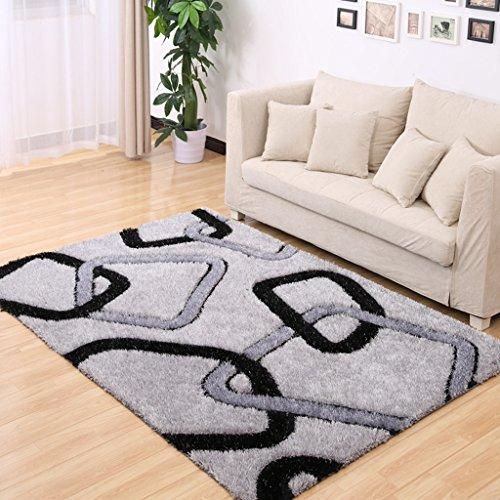 Ljf Moderner minimalistischer Wohnraum Couchtischteppich Schlafzimmerteppich Stretch-Seidenmuster Teppich Hochzeitssaal Bettwäsche Teppich (Color : COLOR7, Size : 160 * 230CM)