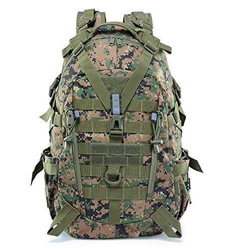 zhenshi 40L Camping Hiking Backpack Men Military Tactical Reflective Backpacks Outdoor Travel Bags Molle 3P Climbing Rucksack Sport Bag (Color : Jungle Digital)