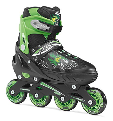 Roces Jungen Inline-skates Compy 6.0, black/light green, 30-33
