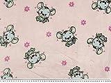 ab 1m: Superflausch, süße Mäuse, rosa, 150-155cm breit