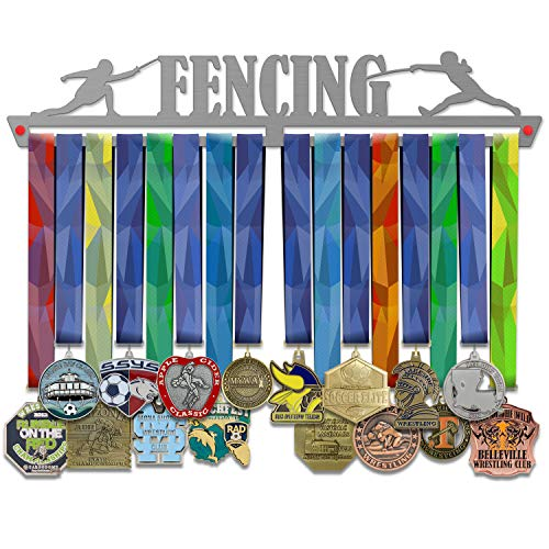 Victory Hanggers Aufhänger für Errungenschaften - Jiu Jitsu, Zaun, Volleyball, Basketball, Schwimmen - 45 cm, Fencing