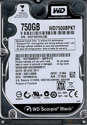 Western Digital wd7500bpkt-80pk4t0750GB DCM: hhctjhnb