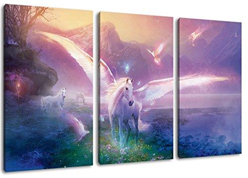 maleficent 3-Teilig auf Leinwand, XXL riesige Bilder fertig gerahmt mit Keilrahmen, Kunstdruck auf Wandbild mit Rahmen
